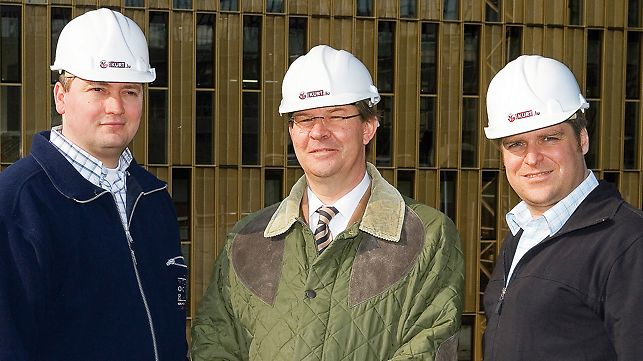 European Court of Justice: Patrick Federmeyer, Senior Site Manager - Claude Johann, Technical Director - Florian Krämer, Project Manager