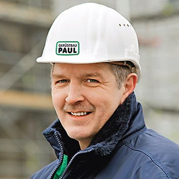 Porträt von Karl-Heinz Metzger, Projektleiter von Gerüstbau Paul GmbH, Frankfurt a. M.