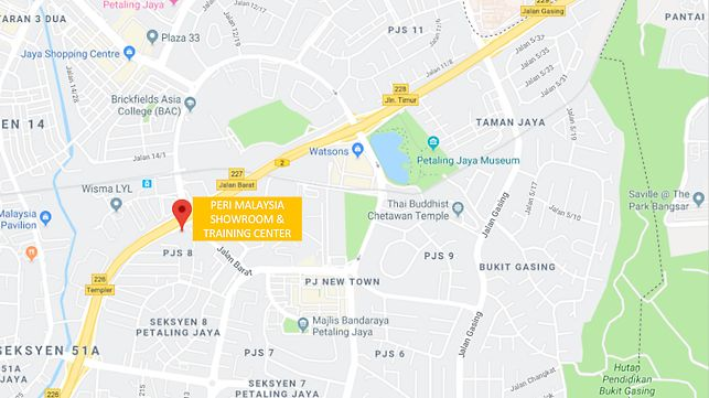 PERI Malaysia Showroom and Training Center Location map