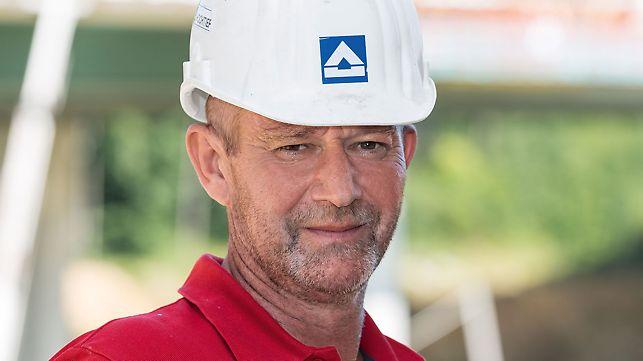 Porträt von Mike Schmiedel, Bauleiter bei Hochtief Infrastructure GmbH, NL Deutschland Ost
