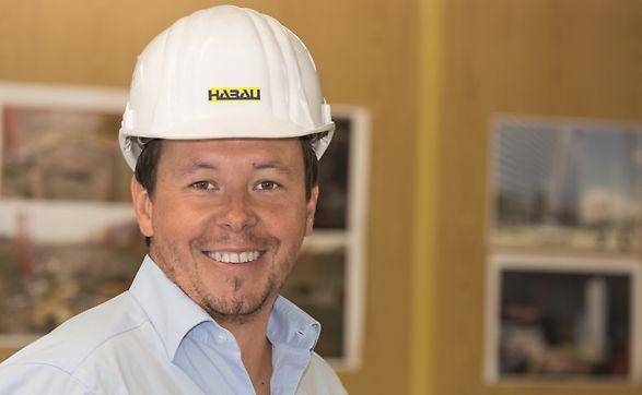 Foto von Bauleiter Ing. Thomas Hochreiter, der Habau Hoch- und Tiefbaugesellschaft mbh