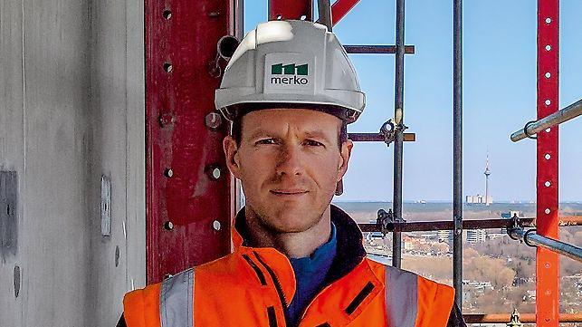 Porträt von Laivo Palla, Projektleiter Betonbau, MERKO Ehitus Eesti AS