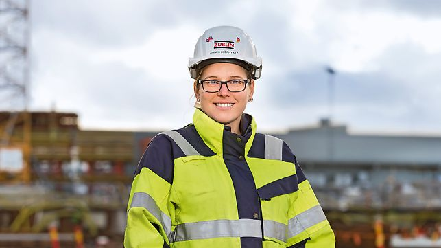Portrait of Agnes Csernyak, Block Manager Concrete at Züblin Scandinavia AB