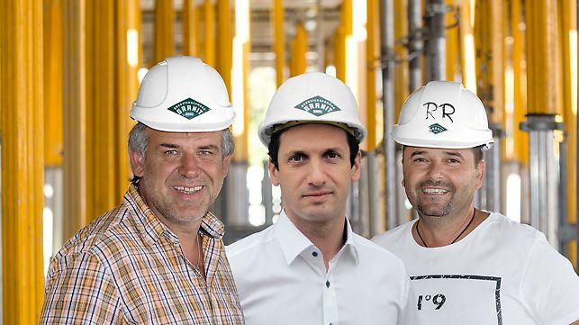 Foto und Statementvon Gerhard Zußner (Bauführer), Gerald Geier (Bauleiter) und Raimund Reiterer (Polier)