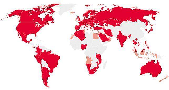 派利提供从事商业活动的区域遍布全球。