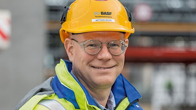 Portrait of Matthias Geyer, Senior Construction Manager at BASF SE