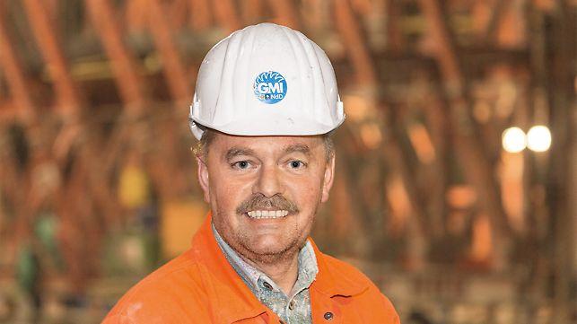 Porträt von Ulrich Anschütz, Site Manager, ARGE GMI (Groupement Marti Implenia), Marti Tunnelbau AG und Implenia Bau AG