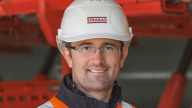 Porträt von Manfred Neuhauser, Bauleiter, Strabag AG, Direktion AF Verkehrswegebau Tirol/Vorarlberg, Innsbruck