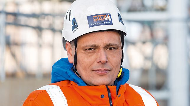 Portret Marcel Broekman, šef projekta, Steigerbouw Van der Panne, Roterdam