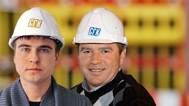 Konnyh Aleksandr Andreevich, vedoucí výroby a techniky | Zamaletdinov Fatih Nailovich, stavbyvedoucí