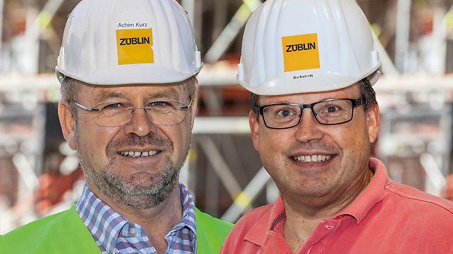 Bild von Achim Kurz, Oberpolier und Roger Schmitt, Projektbauoberleiter bei Ed. Züblin AG, Frankfurt