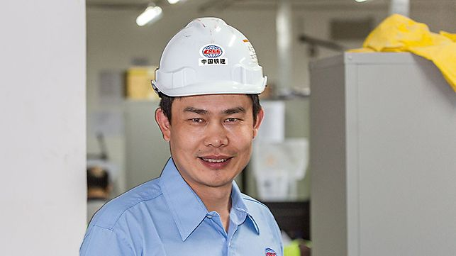 Porträt von Ma Zhan Jiang, Project Manager bei CRCC, China Railway Construction Company, Malaysia Bhd
