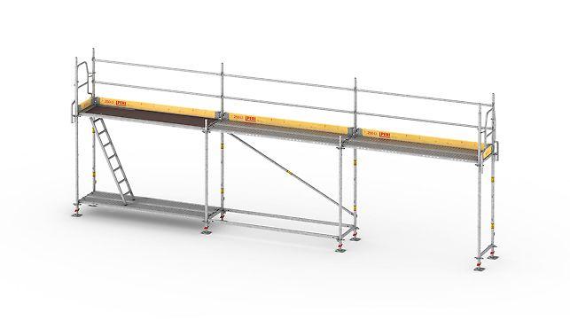 Das leichte und schnelle Rahmengerüst für sicheres Arbeiten an der Fassade