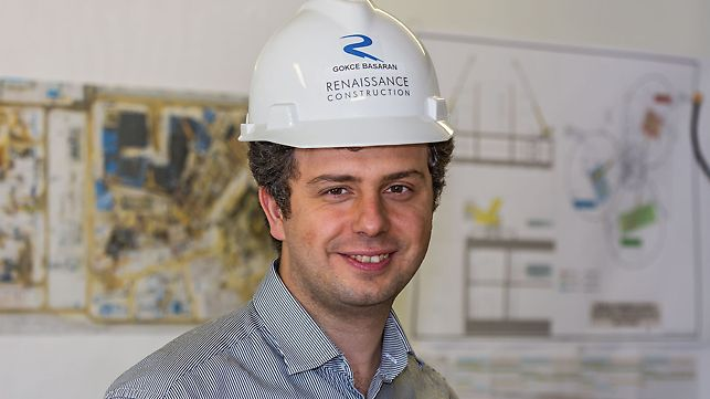 Portrait of Fark Gökçe Başaran, Head of Engineering Solution Department at Renaissance Construction, St. Petersburg, Russia