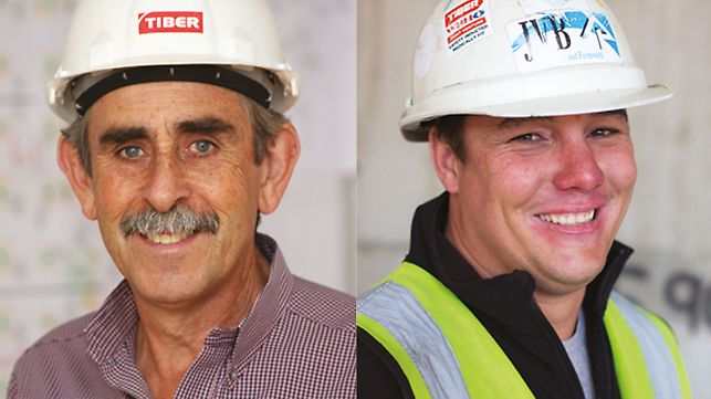 Discovery Head Office - Trevor Dillon, Tiber Contracts Manager and Tinie Bonnet, WBHO Contracts Manager