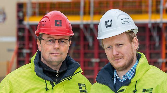 Porträt von Andreas Volkmann, Polier und Wilhelm Tarner, Bauleiter bei Gerhard Lühn GmbH & Co. KG, Lingen