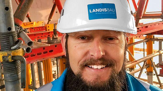 Portrait of Stefan Fleischli, General Foreman Building Construction at Landis Bau AG