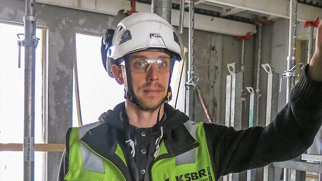 Porträt von Jari Juntunen, Bauleiter bei Keski-Suomen Betonirakenne Oy