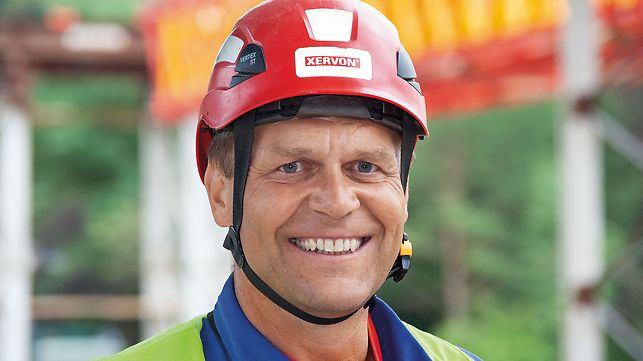 Heimo Egger, Montageleiter Murbrücke Frohnhausen, Österreich