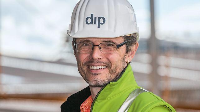 Porträt von Oliver Stegmaier, Projektleiter bei dip Deutsche Industrie- und Parkhausbau GmbH, NL Stuttgart