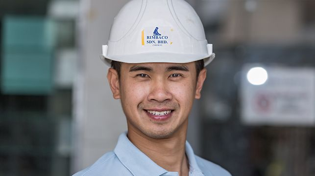 Progetti PERI, Ing. William Low, Project Manager del cantiere Aspen Residence, George Town, Penang, Malesia
