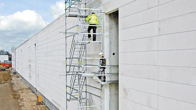 Zur Stabilisierung der Konsolen reicht der Einbau weniger Zusatzbauteile im Treppenturm. Zusätzliche Anker sind nicht notwendig.