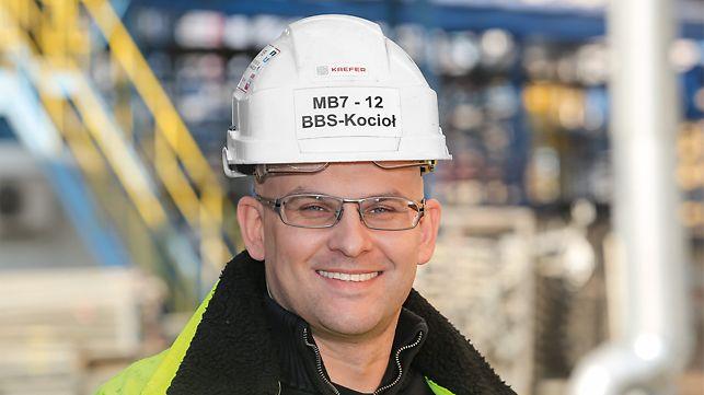 Portrait of Marcin Tymiński, Site Manager, Instal Kraków S.A. / Kaefer SA, Polaniec