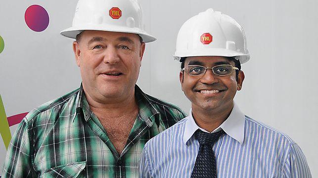 Portret Bernward Stube, direktor (Dulan) i Abhimandran Harendran, menadžer projekta (Yongnam)