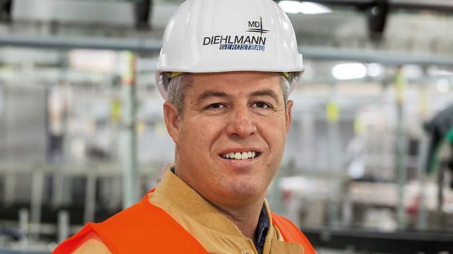 Portrait of Michael Diehlmann, managing director at MD Diehlmann Gerüstbau GmbH, Eppingen
