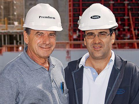 Frank Colucci, vedoucí projektu a Sergio Vacilotto, stavbyvedoucí