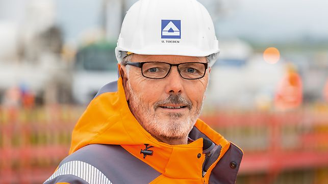 Portrait of Udo Töben, Senior Foreman at Hochtief Infrastructure GmbH, Germany Southwest Office