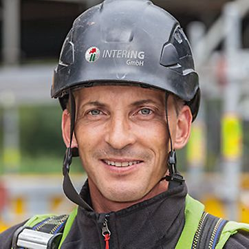 Picture of Heiko Neie, foreman at Intering GmbH, Scaffolding department, Leuna, Germany