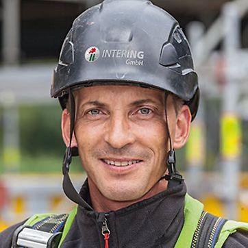 Porträt von Heiko Neie, Vorarbeiter bei Intering GmbH, Gerüstbauabteilung, Leuna