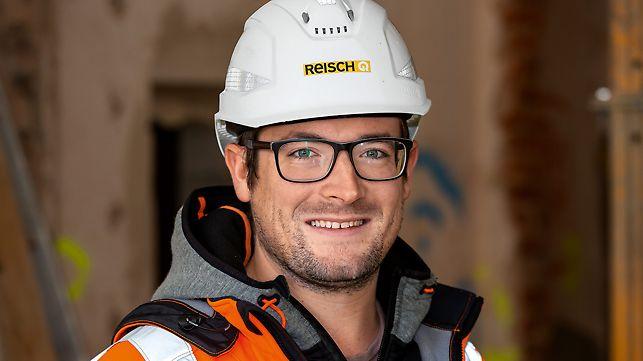 Poträt von Philipp Baier, Bauleiter bei Georg Reisch GmbH + Co. KG, Bad Saulgau