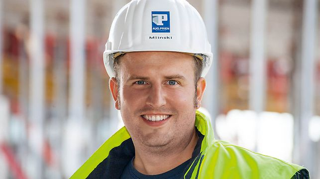 Portrait von Marc Mlinski, Bauleiter bei Aug. Prien GmbH & Co. KG, NL Köln