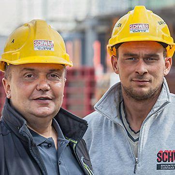 Michael Schwär, Inhaber/Bauleiter von Schwär GmbH in Simonswald und Ralf Emmler, Polier bei Schwär GmbH in Simonswald.