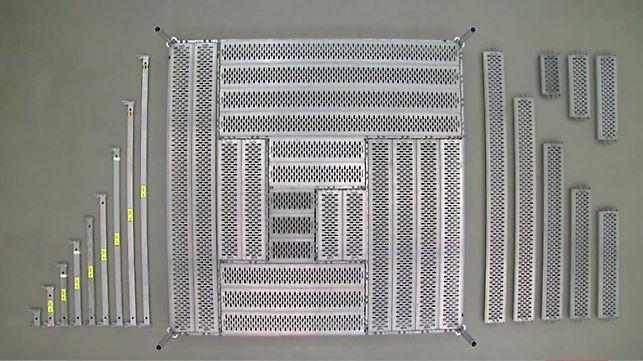 Het steigersysteem PERI UP is met het metrische raster geoptimaliseerd voor hoge flexibiliteit in het gebruik.