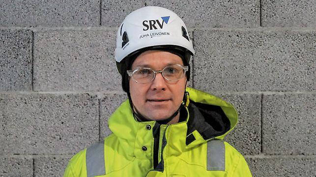 Porträt von Juha Leivonen, Bauleiter bei SRV Rakennus Oy