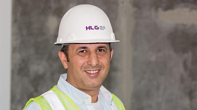 Portät von Hayder Awni, Projektleiter, Al Habtoor Leighton Group (HLG), Dubai