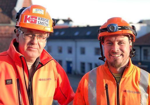 Prosjektleder Håkon G.Lindberg (til venstre) og Formann Morgan Sørensen (til høyre)