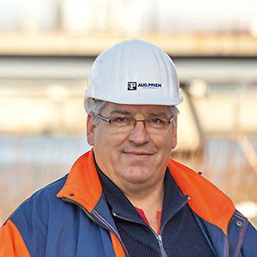 Porträt von Raimer Rathje,  Polier von Aug. Prien GmbH & Co. KG, Hamburg