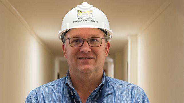 Portret Hamish James, menadžer projekta pri firmi Al Futtaim Carillion
