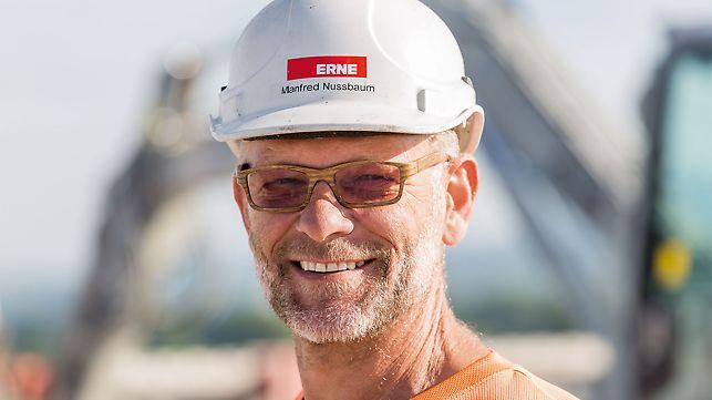 Portrait of Manfred Nussbaum, Foreman at ERNE AG Bauunternehmung, Laufenburg