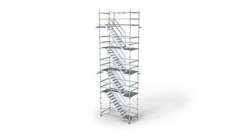 лестница доступа, вышка тура, модульные леса, леса в промышленности
