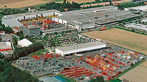 Luftbild des PERI Standorts in Weißenhorn im Jahr 2005