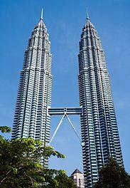 Torri Petronas, Kuala Lumpur, Malesia - Costruzione con sistema di ripresa autosollevante PERI ACS