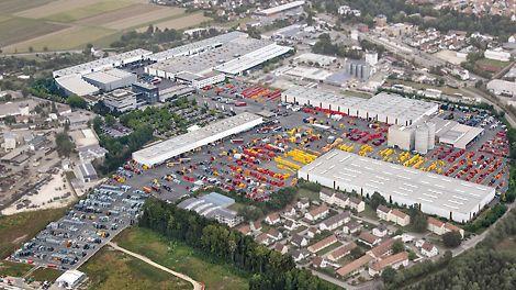 Luftbild der PERI Zentrale in Weißenhorn