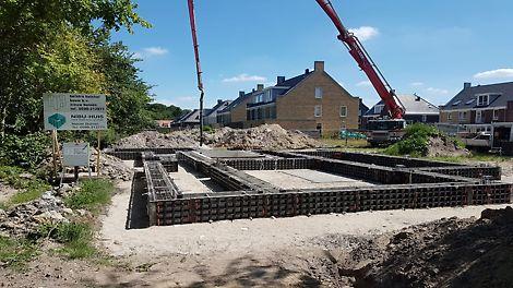 DUO peut également être utilisé dans de nouveaux projets de construction pour couler des fondations par exemple. Les dalles de béton peuvent supporter une pression de 50 kN / m2.