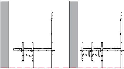 Konsolen lassen sich mit der Easy Auflage erweitern oder auch aneinanderreihen, ein Vorteil z. B. für die WDVS-Montage.