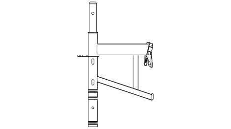 Wsporniki ECM są dostępne w szerokościach 33 cm, 67 cm i 100 cm.